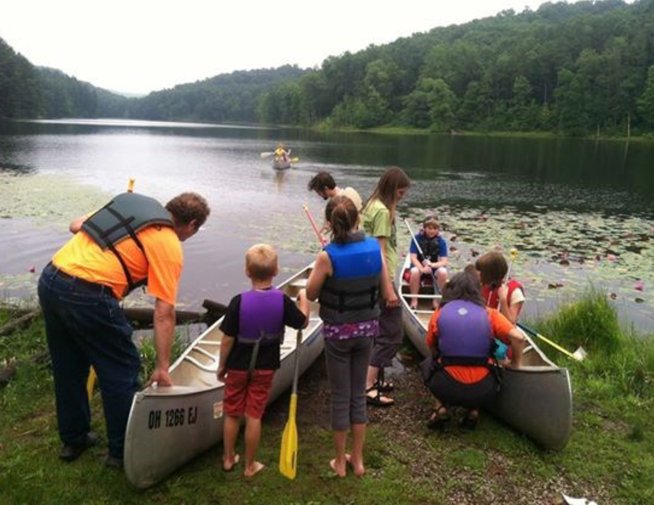 Canoeing at Summer Camp